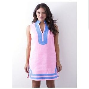 Sail to Sable | Pink & Blue Sleeveless Tunic Dress